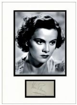 Nova Pilbeam Autograph Signed Display